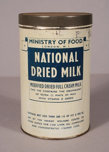 Tin of 'National Dried Milk'