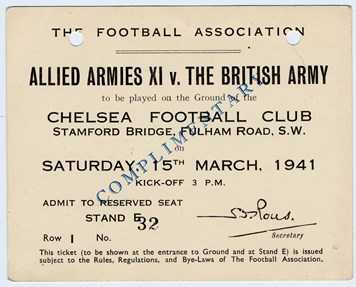 Image result for army v allies 1941 football match
