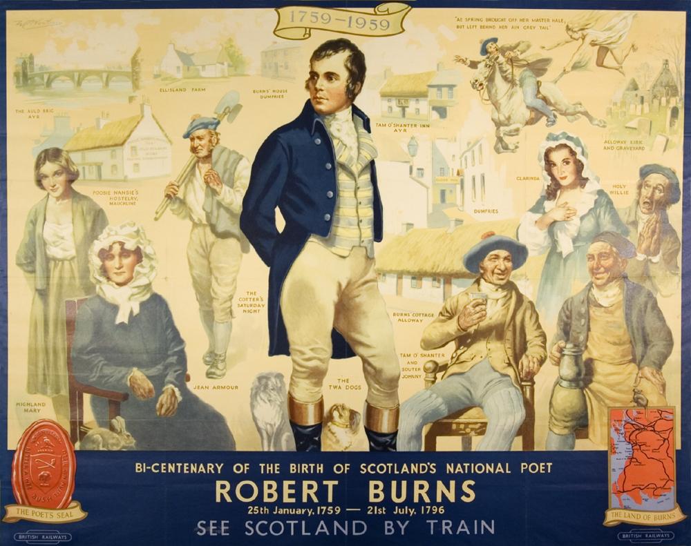 British Railways' Robert Burns Bi-Centenary Poster