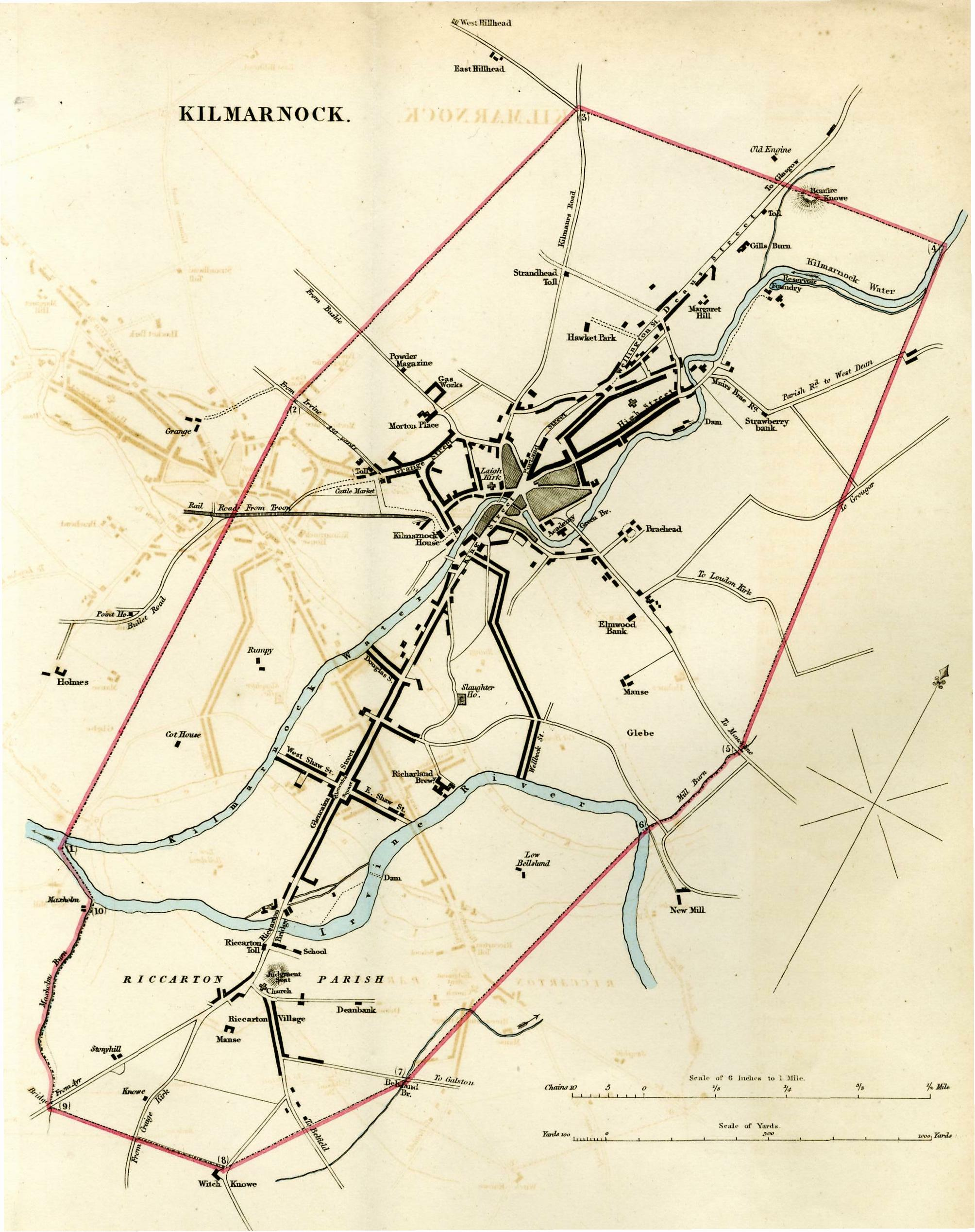 Map of Kilmarnock 1831