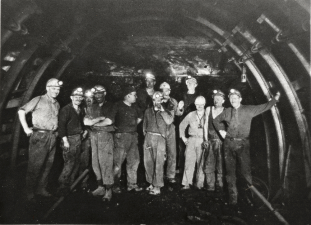 tunnelling crew  safety officials killoch colliery ochiltree