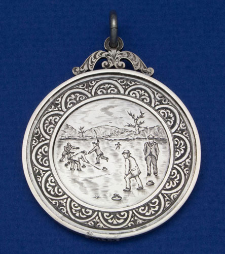 Mouswald Curling Club medal 1888 obverse