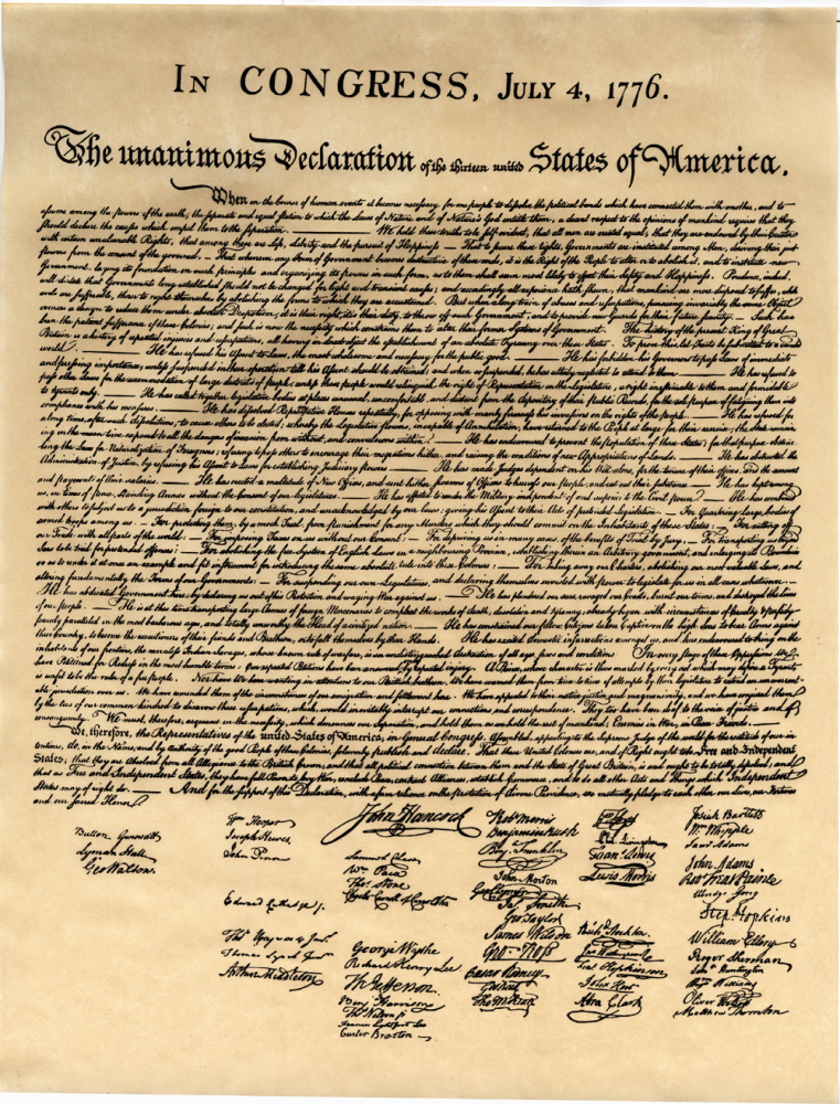 a description of the declaration of independence of the united states of america The united states declaration of independence, which announced that the thirteen american colonies then at war with great britain were no longer a part of the british empire, exists in a number of drafts, handwritten copies, and published broadsides.