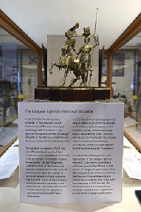 New Acquisition - A Silver-gilt statuette of the 13th Earl of Eglinton and his horse in their full Tournament armour.
